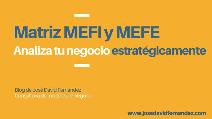 matriz MEFE y MEFI