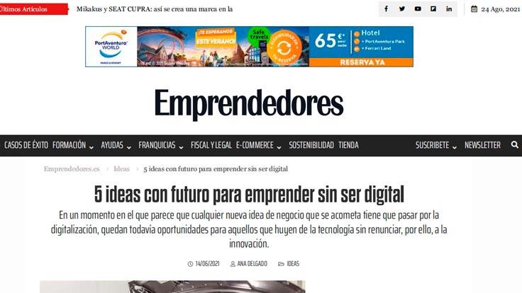 Emprendedores 5 ideas con futuro